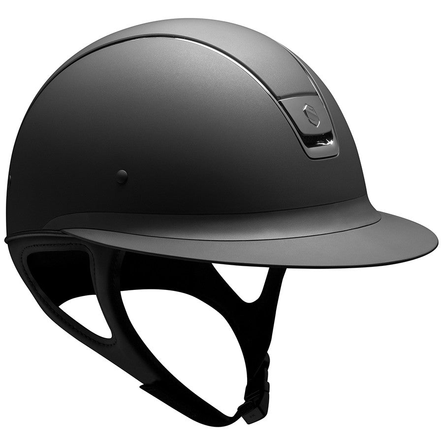 Samshield Miss Shield Riding Helmet - Shadowmatt Black w/ Black Chrome