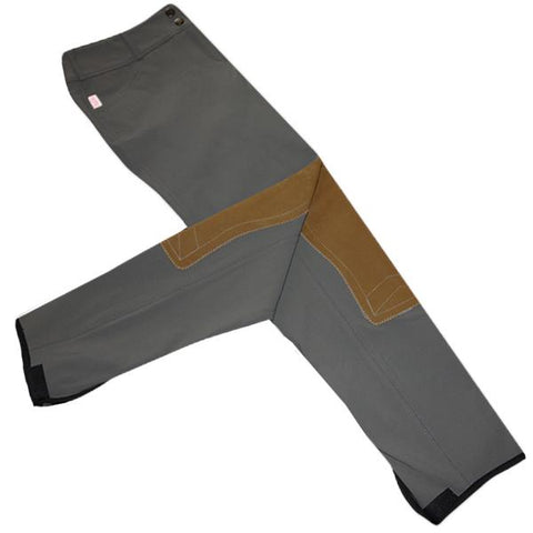 Tailored Sportsman Trophy Hunter Breeches - Elephant w/ Tan Patches