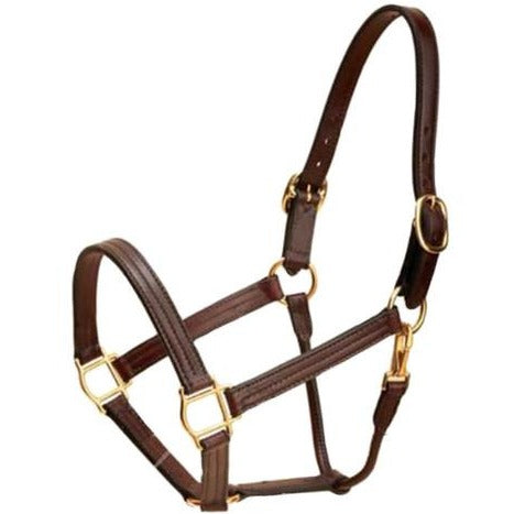 Tory Leather Triple Stitched Leather Halter