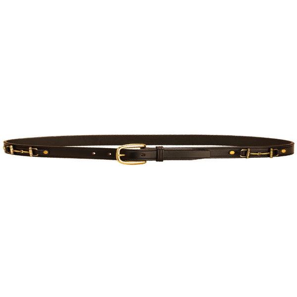 "Tory Leather 1"" Belt w/ Snaffle - Black"
