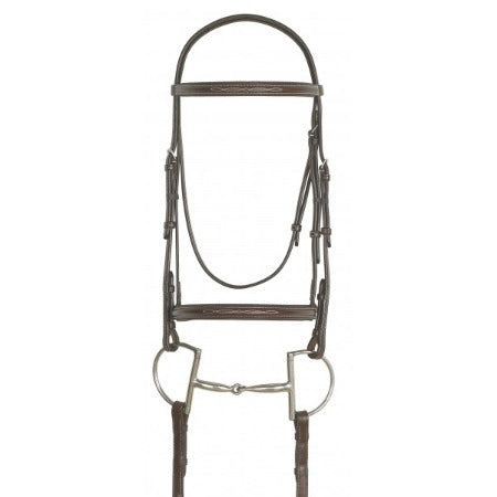 Ovation® Elite Collection- Fancy Raised Padded Bridle with Raised Fancy Laced Reins