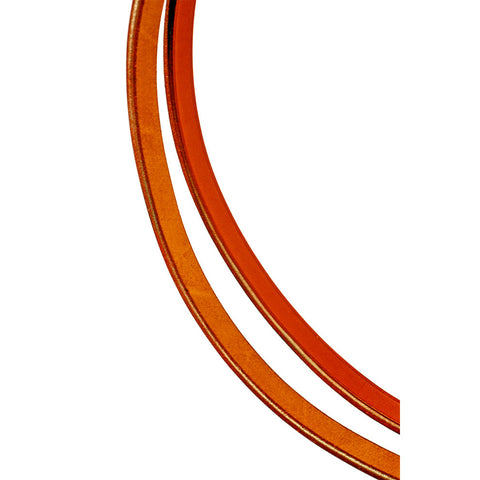"Edgewood 1/2"" Plain Flat Leather Reins - Full Size"
