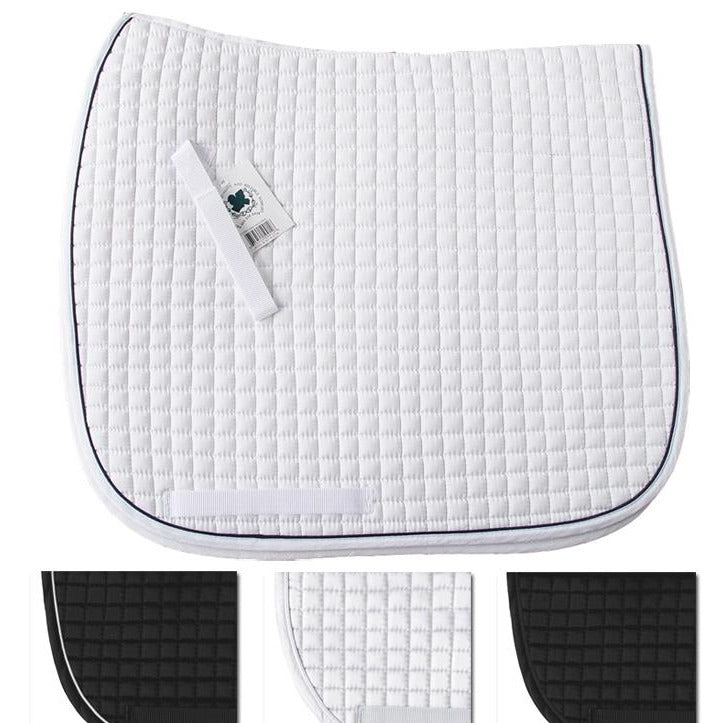 PRI Quilted Dressage Pad w/Cording and Rhinestones