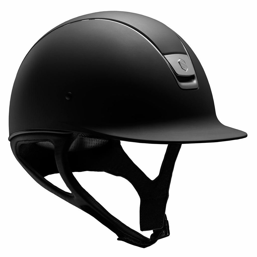Samshield Shadowmatt Riding Helmet - Black Shadowmatt w/ Black Chrome