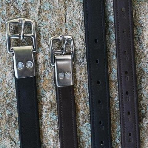 Black Oak Lined Stirrup Leathers