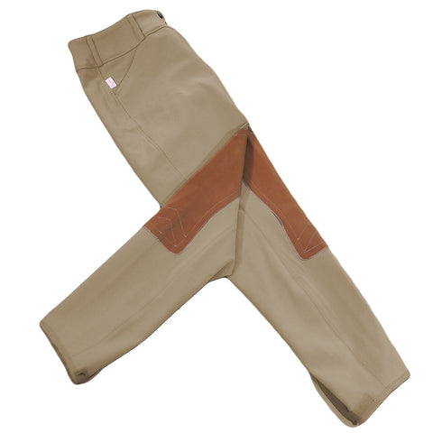 Tailored Sportsman Girls Trophy Hunter Breeches - Low Rise, Front Zip - Tan