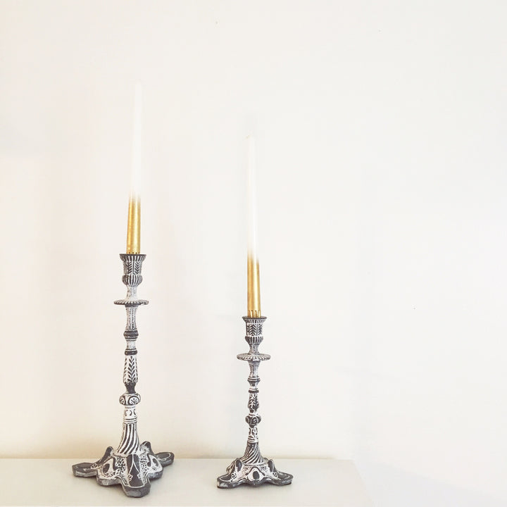 DIY: Gold Candles