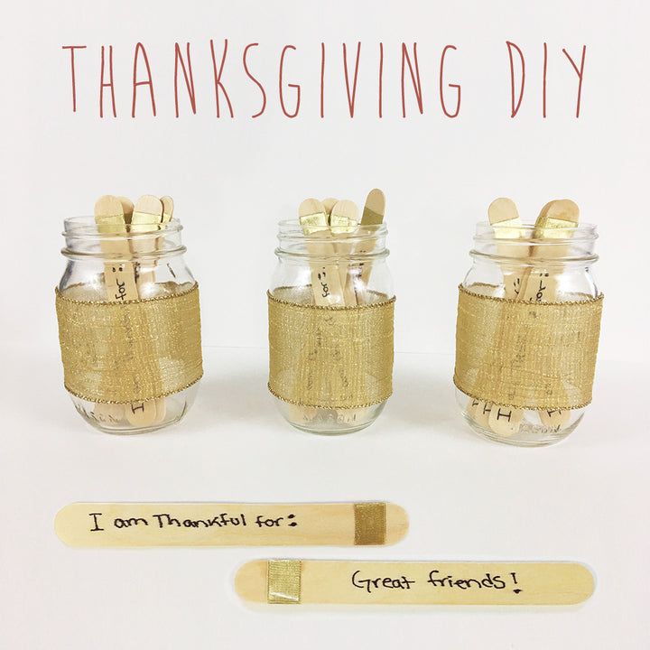 DIY: Give Thanks Jars