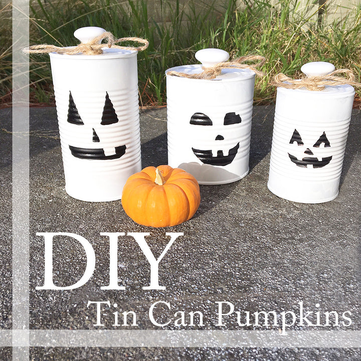 DIY: Tin Can Pumpkins