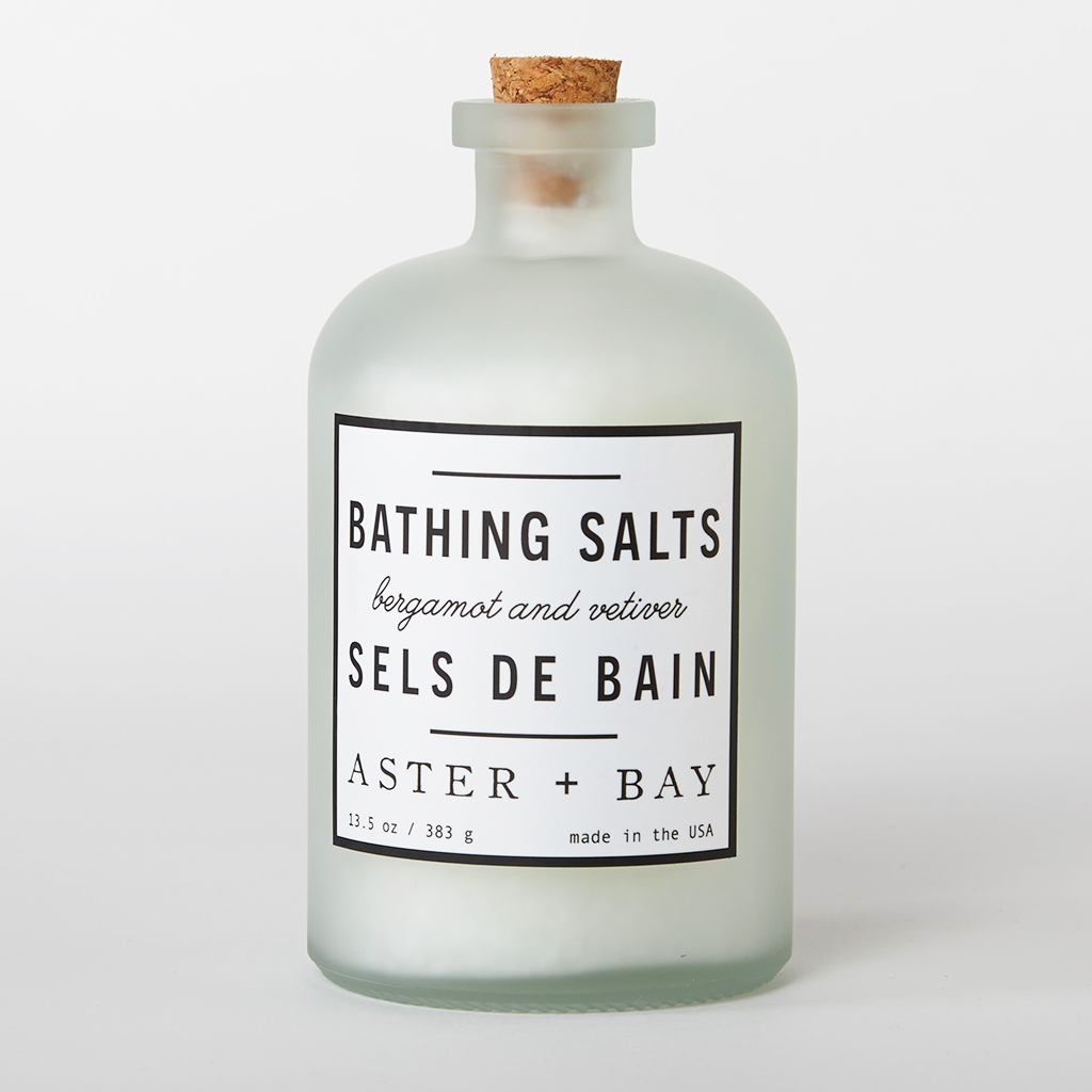 Bergamot and Vetiver Bathing Salts Handmade Natural
