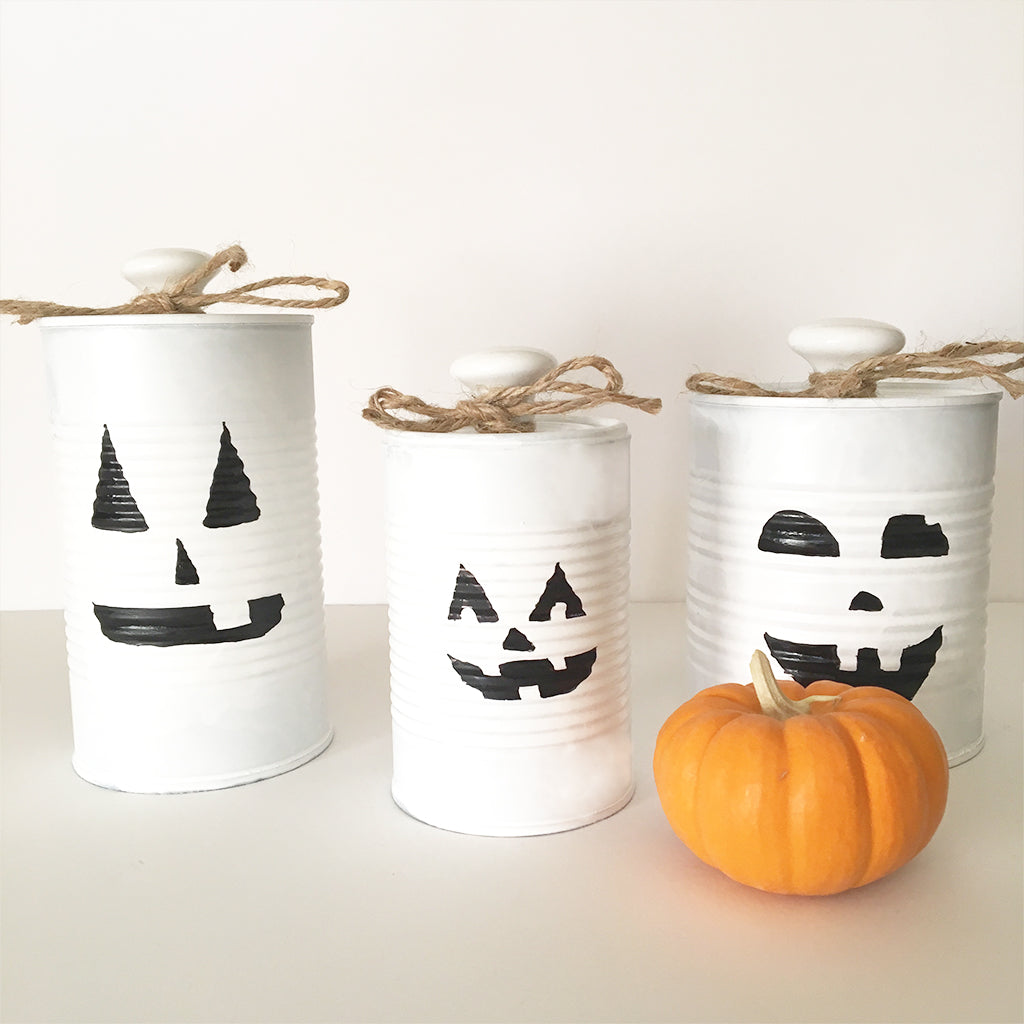 DIY Pumpkin Tin Cans