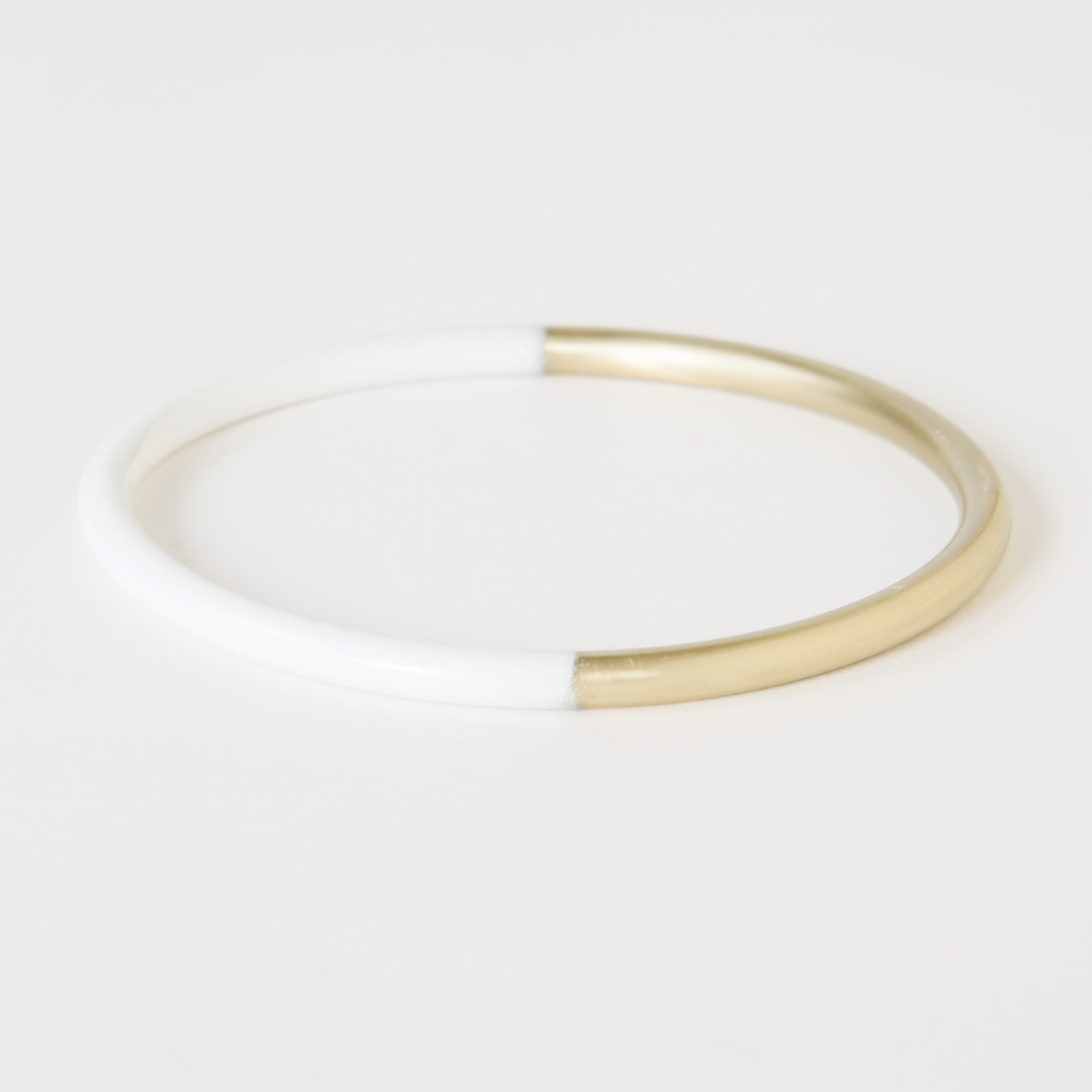 White Dipped Bracelet