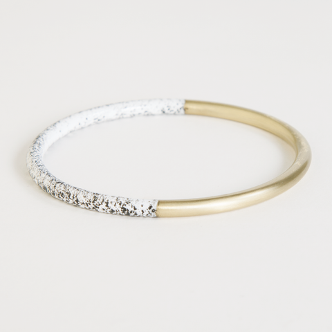 White Speckled Dipped Bracelet