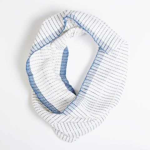 Blue Stripe Scarf