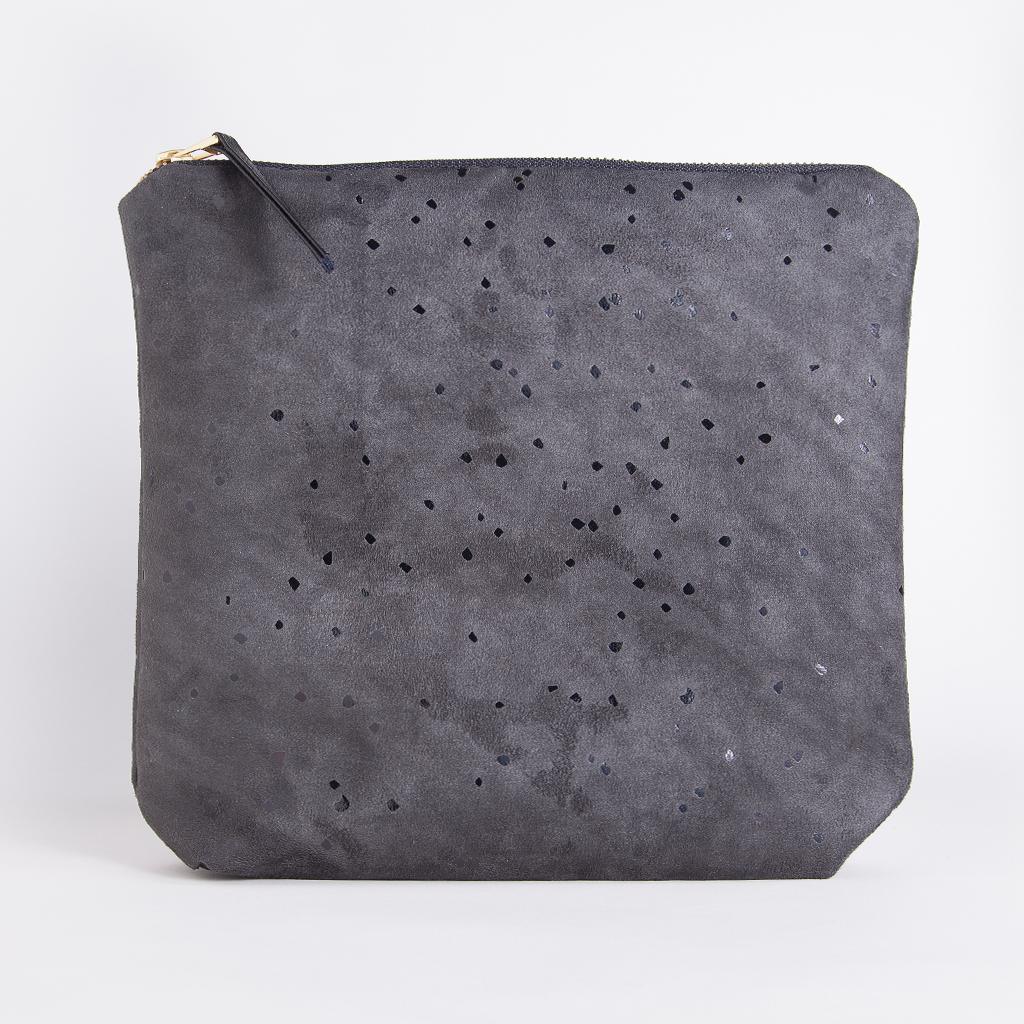 Black Confetti Clutch