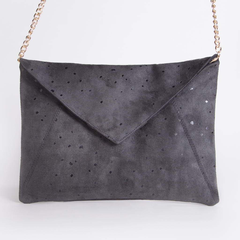 Black Confetti Envelope Purse