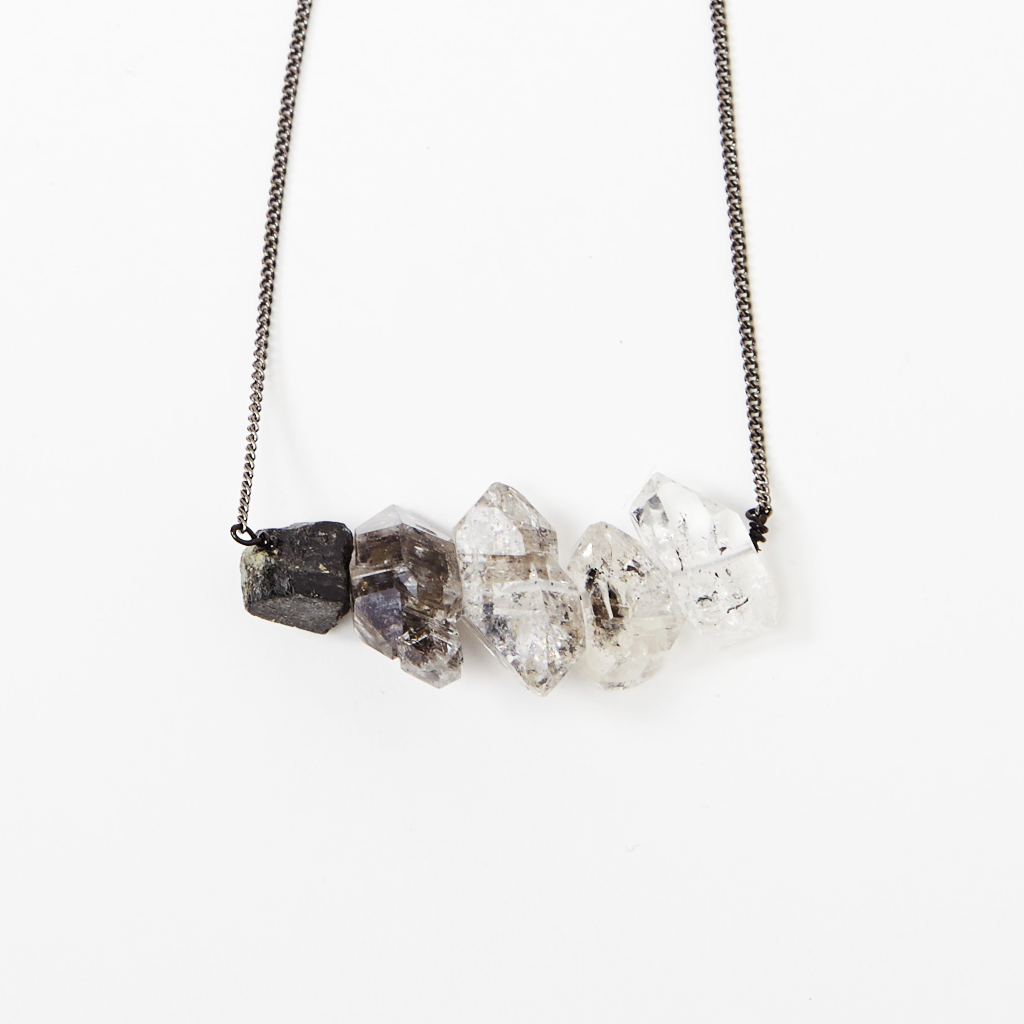 Herkimer Diamond Ombre Necklace