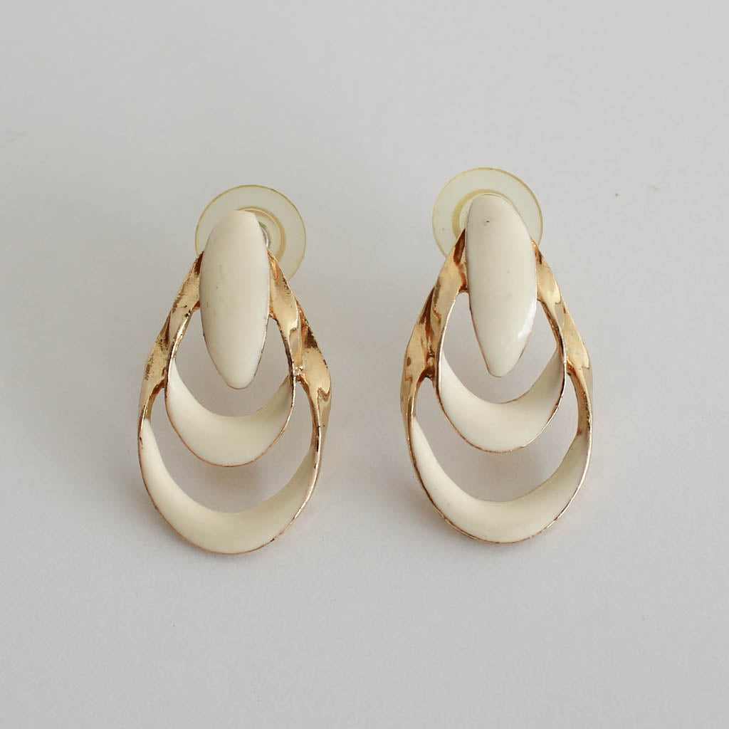 Vintage Gold Tiered Earrings