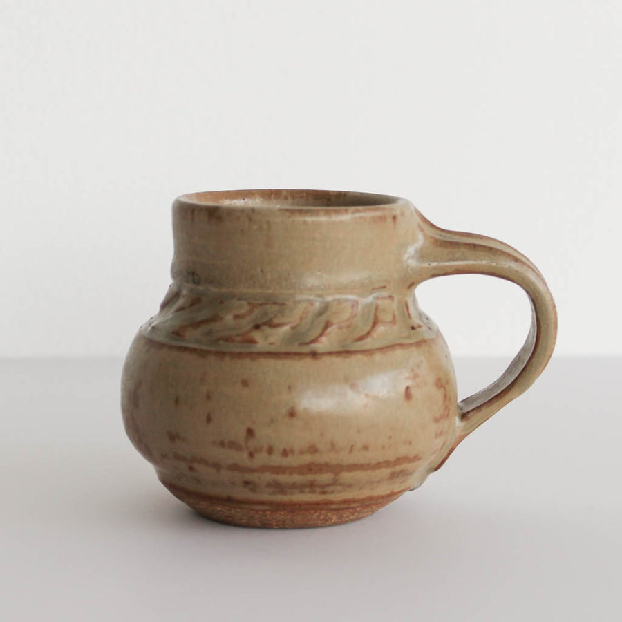 Vintage Handmade Small Earth Tone Mug