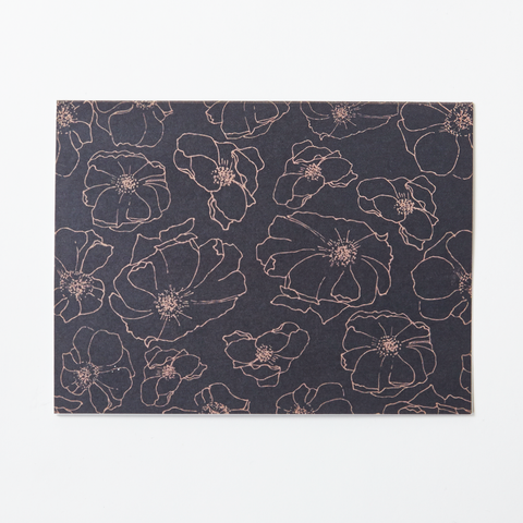 Midnight Floral Greeting Card