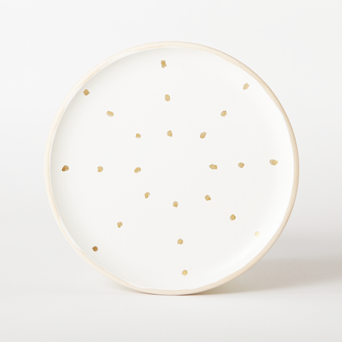 Gold Dots Trinket Dish