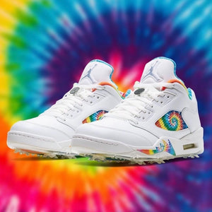 GOLF SNEAKERHEAD :: AIR JORDAN 5 GOLF TIE DYE