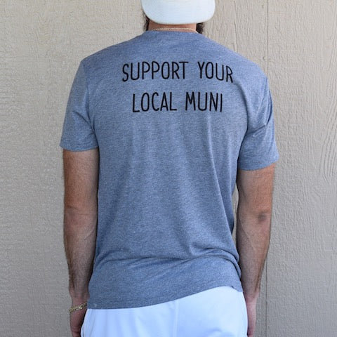 19th Hole Tee (Heather Grey) - Muni Kids®
