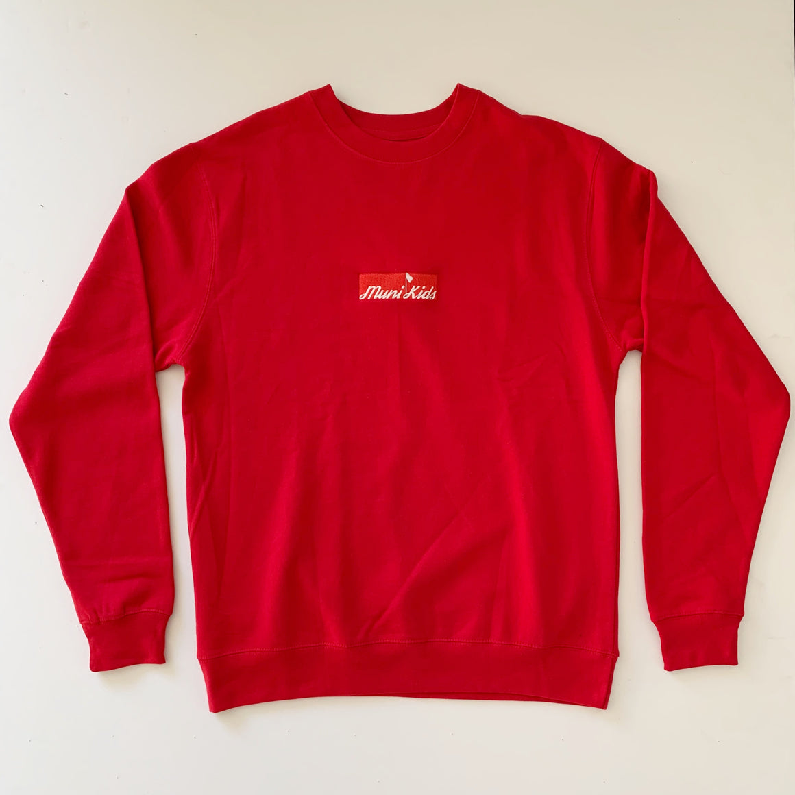 Bar Logo Crewneck (Sunday Red) :: Golf Sweatshirt | Muni Kids®
