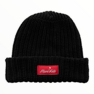 Bar Logo Heavy Knit Beanie (Black)