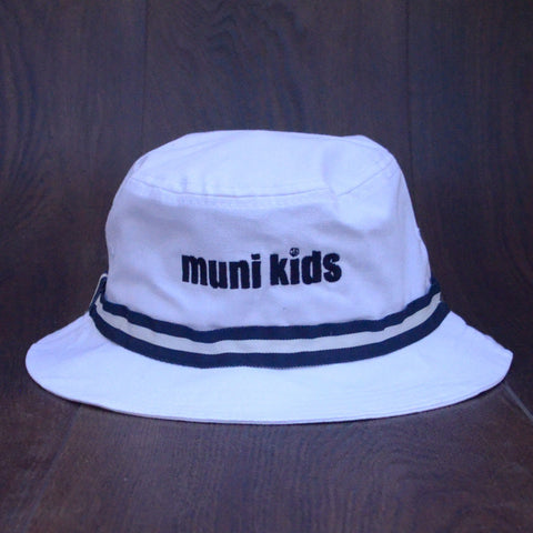 Bucket Hat (Navy/White) - Muni Kids®