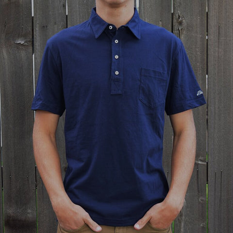 Downtown Pocket Polo (Navy) - Muni Kids™