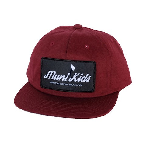 Inspired Golf Strapback (Maroon) | Muni Kids®