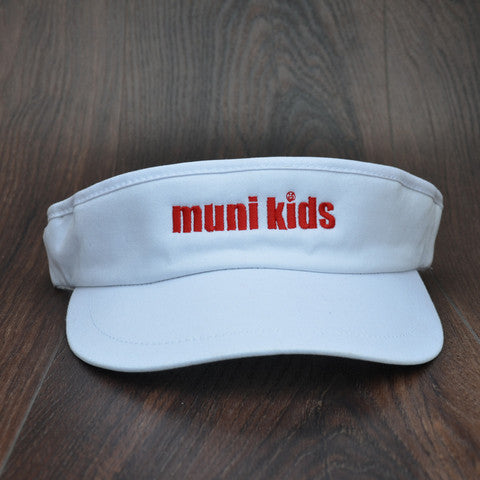 Tour Visor (White) - Muni Kids®