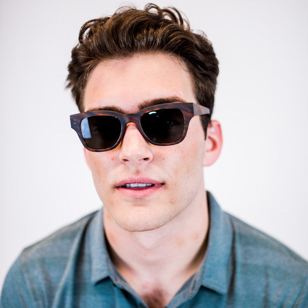 man wearing wayfarer sunglasses