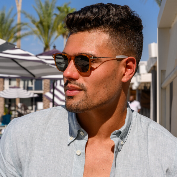 Man wearing positano sunglasses