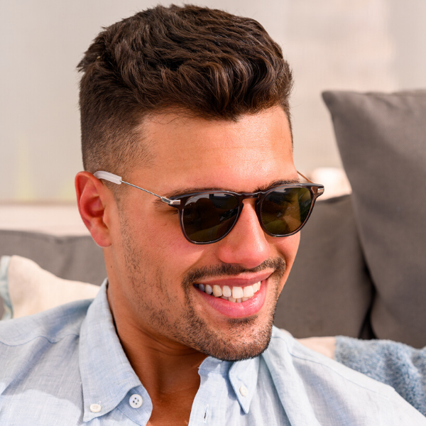 Man wearing zuma fit shades