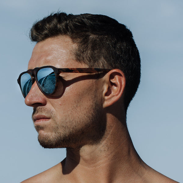 Maho Shades - Nashville Whisky Tortoise Frames - Male Model