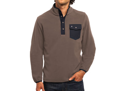 Criquet Snap Fleece Pullover Falcon