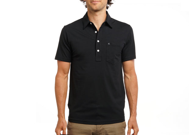 Criquet Top-Shelf Players Shirt Black Top