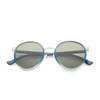 Folded front view of gradient retro circle sunglasses