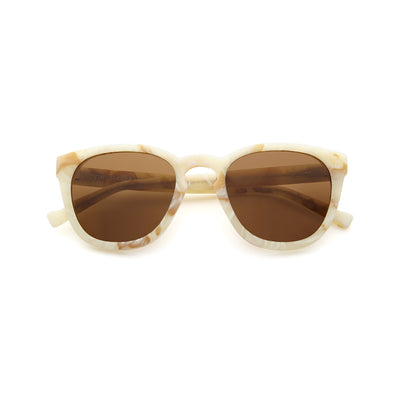 Ivory D-Frame sunglasses with amber lens