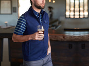 Criquet Sweater Fleece Vest Navy Heather
