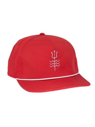 Trident Trucker Hat Red/White