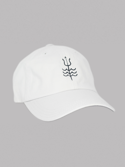 Trident Dad Hat White