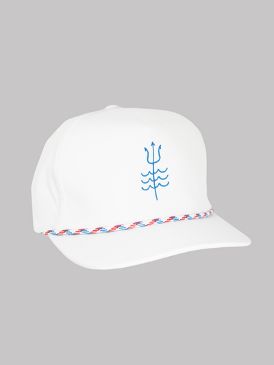 Trident Trucker Hat White