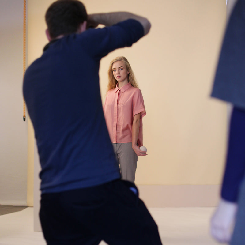 Behind-the-scenes of SS16 photoshoot