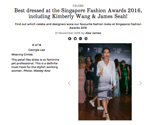 HER WORLD PLUS: Best Dressed at the Singapore Fashion Awards 2016
