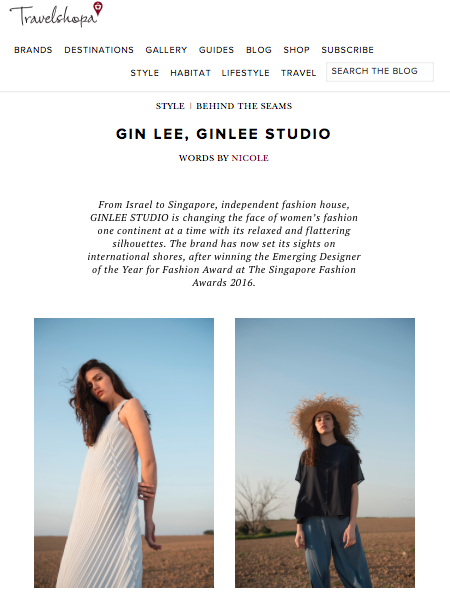TRAVELSHOPA: BEHIND THE SEAMS WITH GIN LEE, GINLEE STUDIO