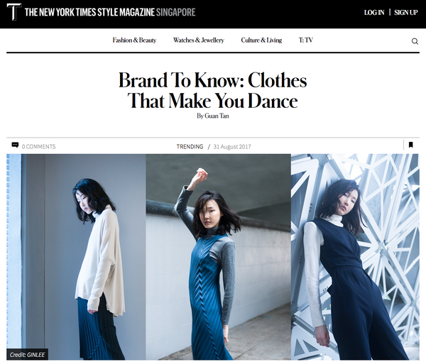 THE NEW YORK TIMES SINGAPORE: Clothes That Make You Dance