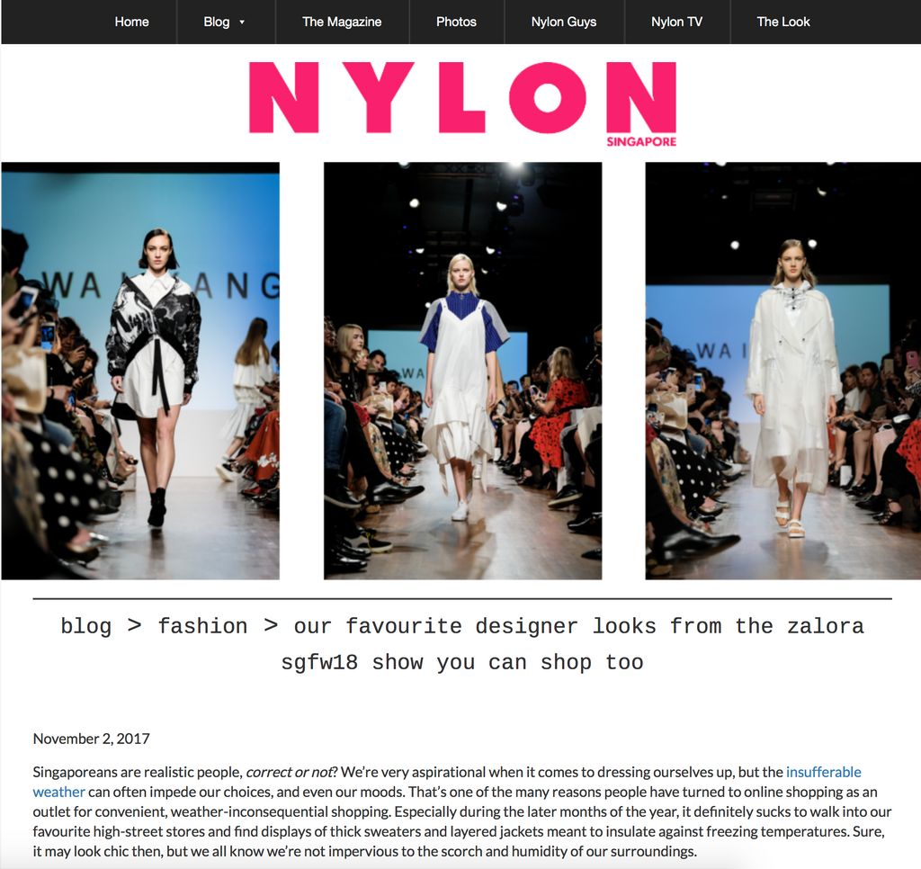 Nylon: Our Favourite Designer Looks From The Zalora SGFW18 Show You Can Shop Too